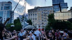 Часть 3 13 сражения NYC 2016 пузыря Стоковое Изображение