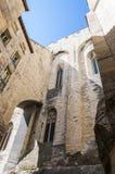 Часть средневекового комплекса des Papes Palais в Авиньоне Стоковые Фото