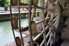 Часть средневекового колеса воды Стоковое Изображение RF