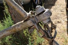 Часть старого анкера с цепью стоковые фото