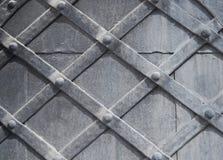 Часть старого деревянного серого цвета двери Текстура, предпосылка Стоковая Фотография RF