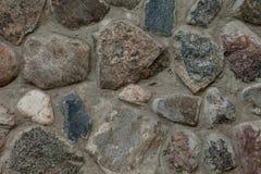 Часть старого крупного плана каменной стены Стоковые Фотографии RF