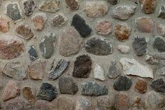 Часть старого крупного плана каменной стены Стоковое Фото