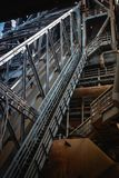 Часть старого оборудования доменной печи металлургического предприятия Стоковые Изображения