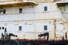 Часть старого покинутого корабля Стоковые Фото