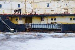 Часть старого покинутого корабля Стоковое фото RF