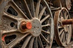 Часть старого промышленного поезда Стоковое Изображение