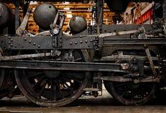 Часть старого промышленного поезда Стоковое Фото