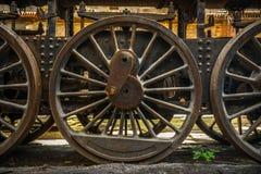 Часть старого промышленного поезда Стоковые Фотографии RF