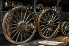 Часть старого промышленного поезда Стоковые Изображения