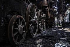 Часть старого промышленного поезда Стоковые Изображения RF