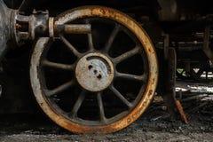 Часть старого промышленного поезда Стоковое Изображение RF