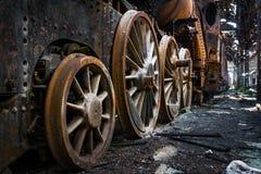 Часть старого промышленного поезда Стоковая Фотография