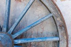 Часть старого проутюживенного, голубого колеса Стоковые Фотографии RF