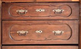 Часть старой деревянной мебели Стоковые Фотографии RF
