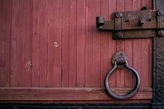 Часть старой деревянной двери Стоковые Фотографии RF