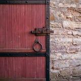 Часть старой деревянной двери Стоковая Фотография