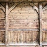 Часть старой деревянной стены Стоковая Фотография