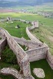 Часть старой каменной стены в замке Spis стоковое фото rf