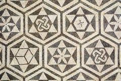 Часть старой римской мозаики в Carmona, Испании стоковое фото