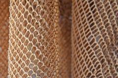 Часть старой рыболовной сети (крупный план) Стоковые Изображения
