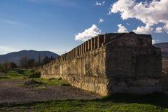 Часть старой стены городка в cachetia стоковое фото