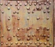 Часть старой структуры металла, покрытая с ржавчиной стоковые изображения rf