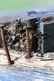 Часть старых деревянных скамей Стоковое Изображение