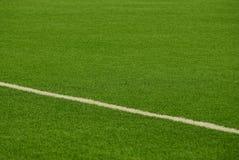 Часть стадиона спорт зеленого с белой нашивкой Стоковые Фото