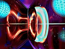 Часть стеклянной лампы Стоковая Фотография