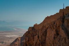 Часть стены крепости Masada Стоковое фото RF