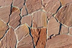 Часть стены сделанной камня искусственная голубая светлая каменная стена Стоковая Фотография