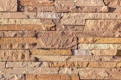 Часть стены сделанной камня искусственная голубая светлая каменная стена Стоковые Фотографии RF