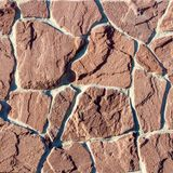 Часть стены сделанной камня искусственная голубая светлая каменная стена Стоковые Изображения RF