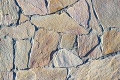 Часть стены сделанной камня искусственная голубая светлая каменная стена Стоковое Изображение