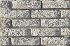 Часть стены сделанной камня искусственная голубая светлая каменная стена Стоковое Фото