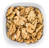 Часть стерженей грецкого ореха изолированных на белизне Стоковые Фото