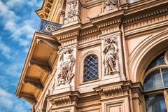 Часть стиля архитектуры Nouveau искусства города Риги, Латвии Стоковое фото RF
