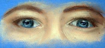 Часть стороны - 2 глаза иллюстрация вектора
