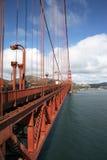 часть строба моста золотистая стоковые изображения