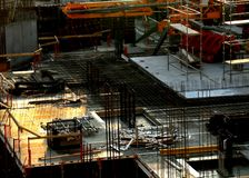 Часть строительной площадки стоковая фотография rf