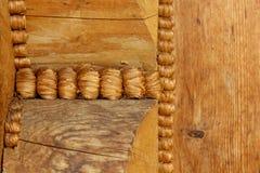 Часть структуры деревянного дома Стоковое Фото