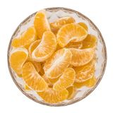 Часть съемки конца-вверх tangerines изолированной на белизне Стоковое фото RF