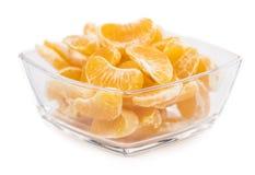 Часть съемки конца-вверх tangerines изолированной на белизне Стоковое Изображение