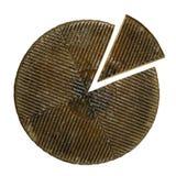 Часть сыра на изолированной предпосылке Стоковая Фотография RF