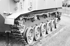 Часть следа танка Стоковая Фотография