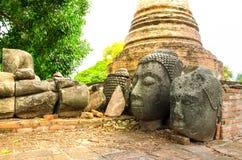 Часть сломленной статуи Будды Стоковая Фотография