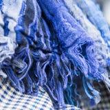 Часть ткани в сини Стоковые Фото