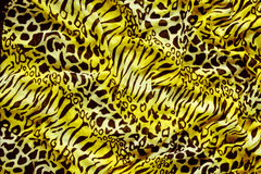 Часть ткани тигра одежд Стоковое Фото
