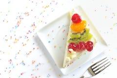 часть торта вкусная Стоковые Изображения RF